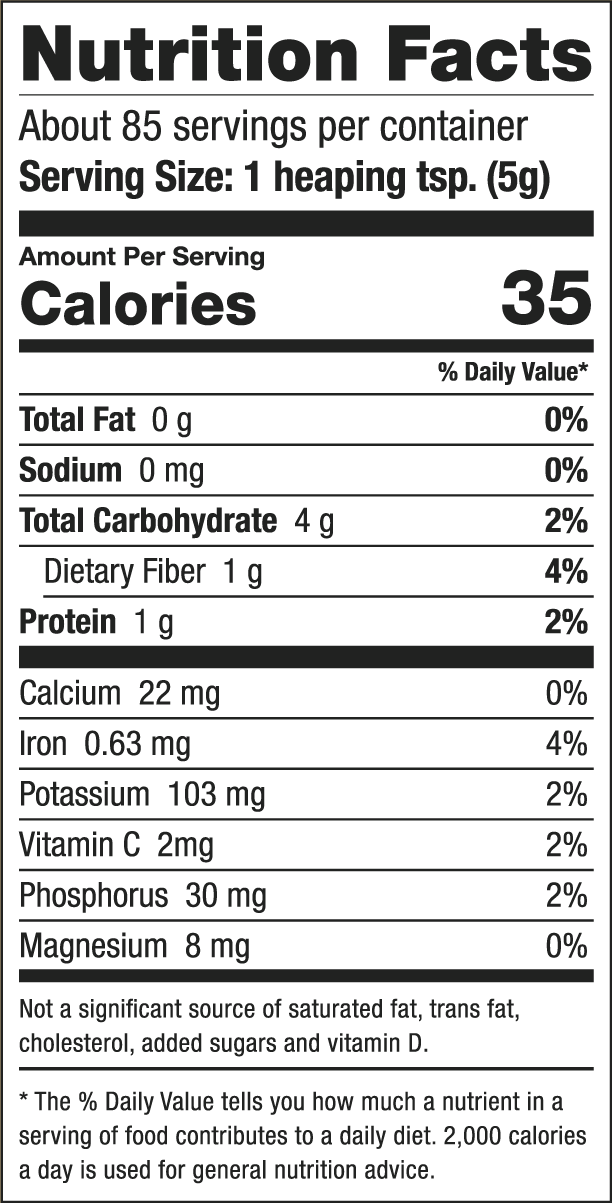 Image result for maca root nutrition facts