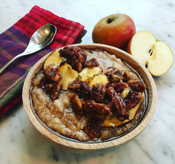 winter spiced oatmeal image
