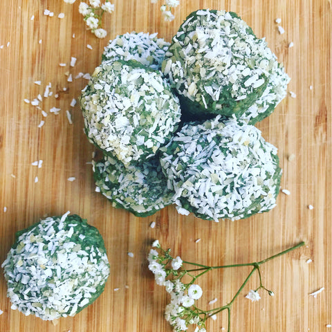 healthy dairy free cashew lime wheatgrass bites