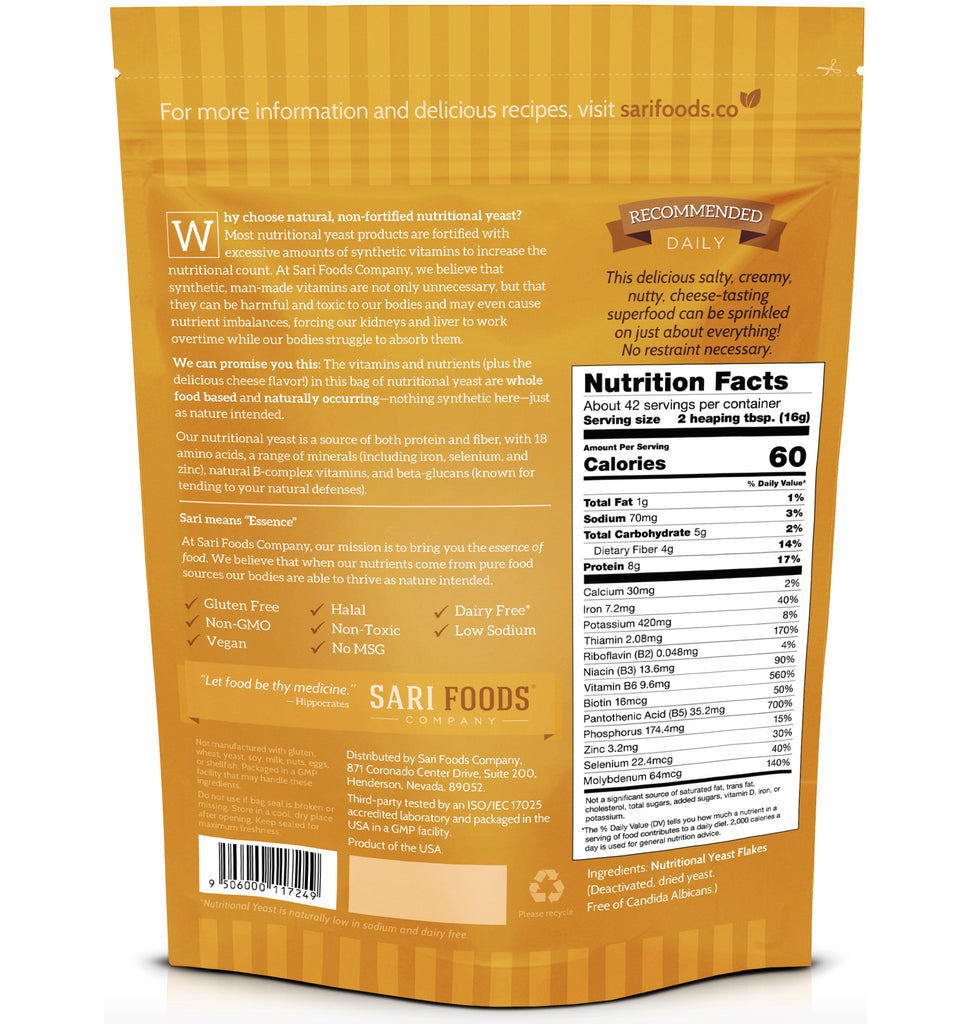 Non-Fortified Nutritional Yeast Flakes