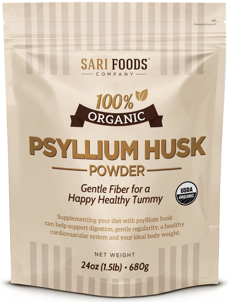 Organic Psyllium Husk Powder: a gentle source of insoluble and soluble fiber for healthy digestion