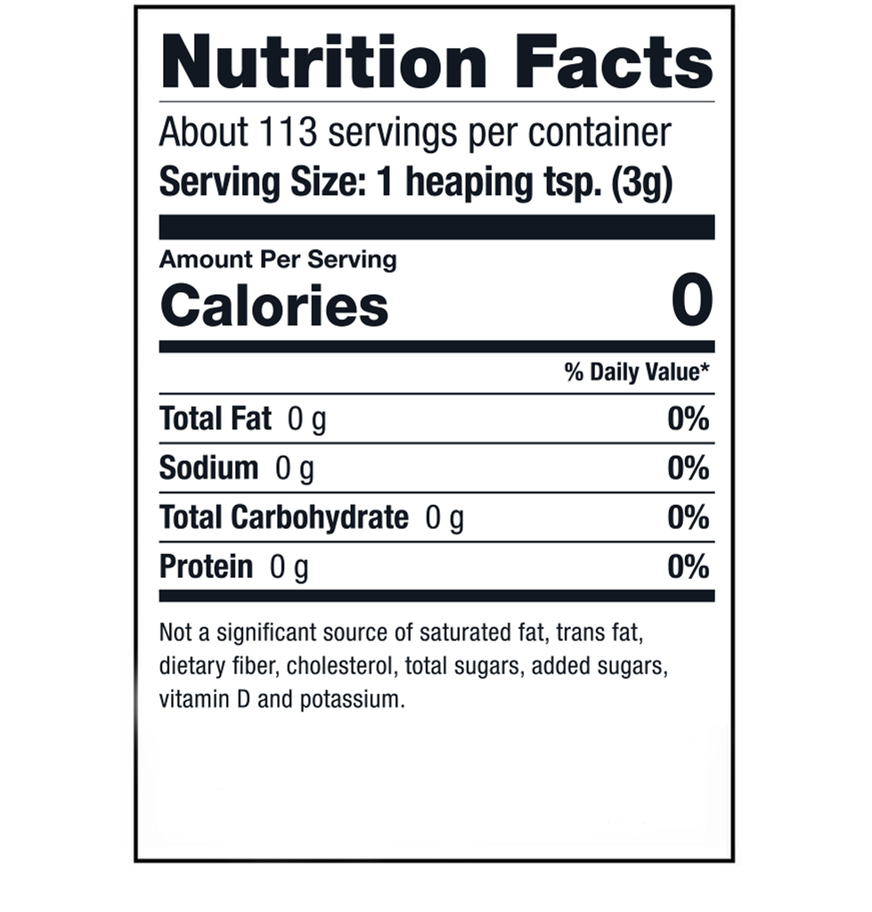 Sari Foods Organic Beet Powder Nutrition Facts