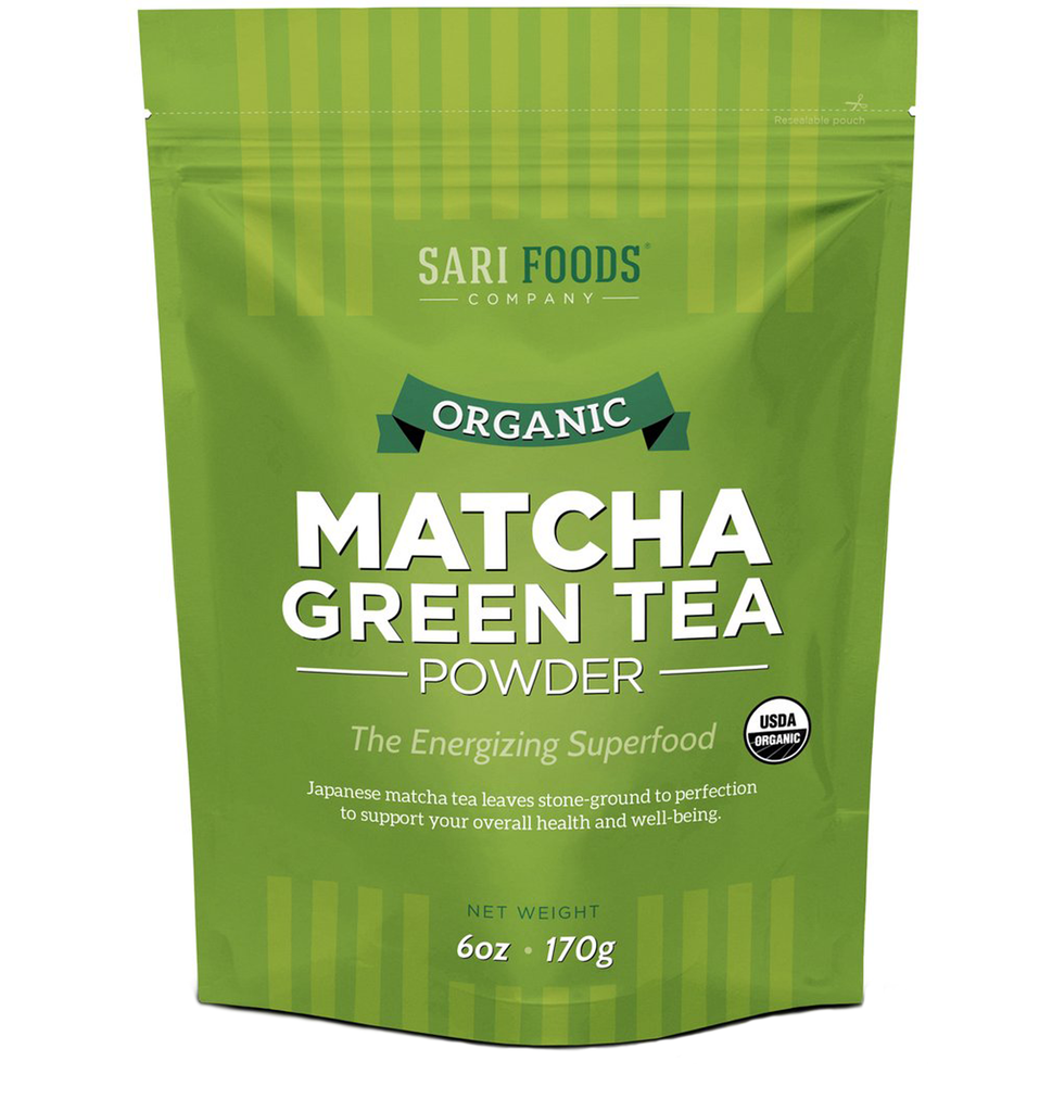 Sari Foods Organic Matcha Green Tea Powder package front