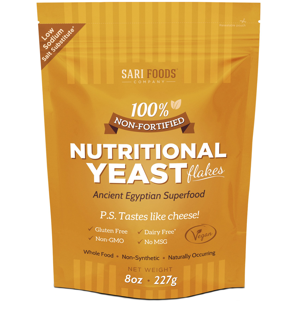 Sari Foods Organic Non-fortified Nutritional Yeast Flakes package front