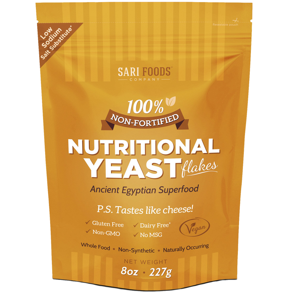Front of Nutritional Yeast Packaging
