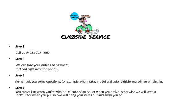 - Curbside service Everything Pet Katy, Texas -