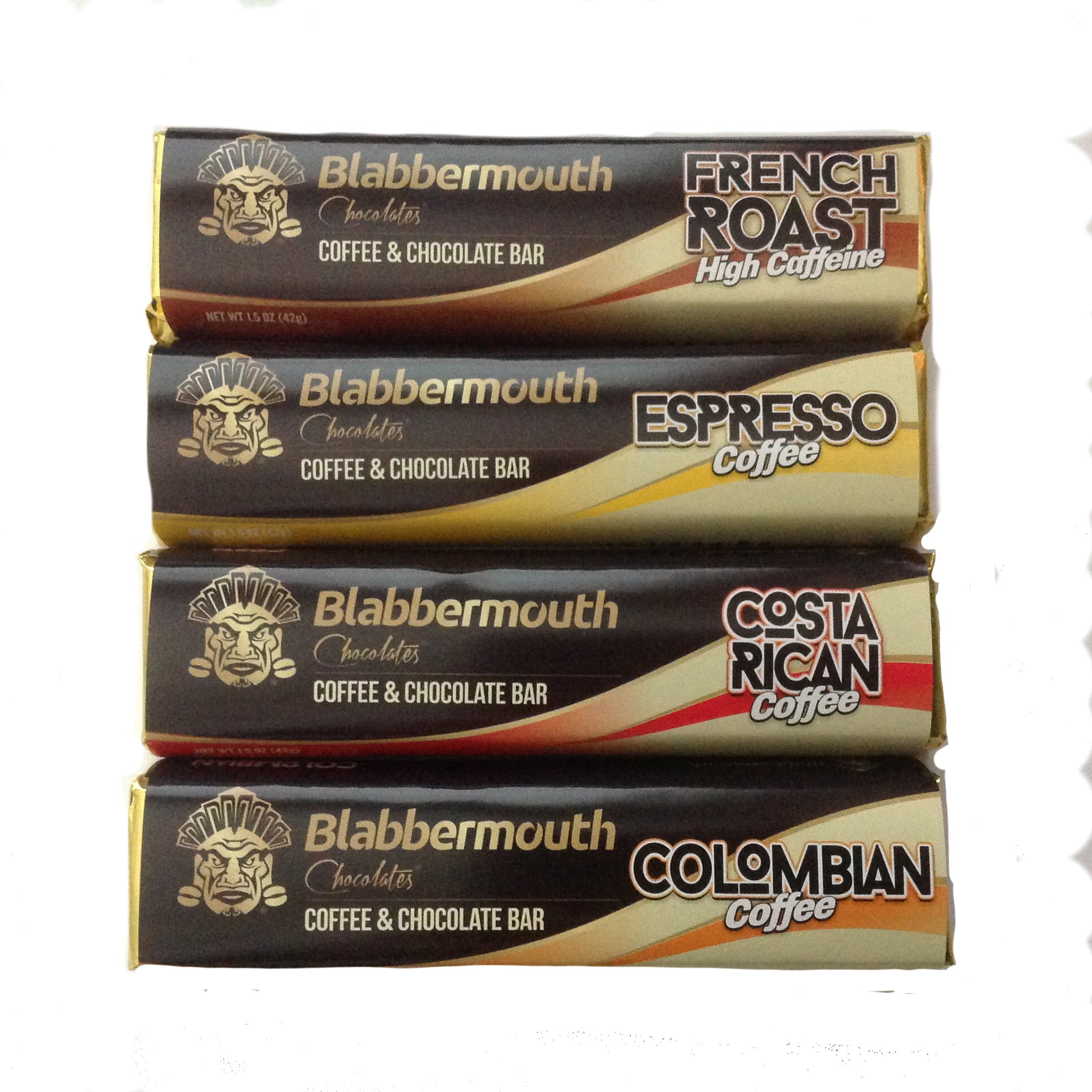 "4 Pack of ""Get Caffeinated"" Coffee Chocolate Bars"