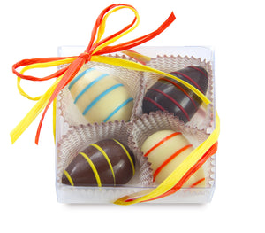 Hand Striped Chocolate Eggs for Easter