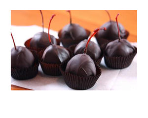 Italian Black Cherries Coated in Dark Chocolate