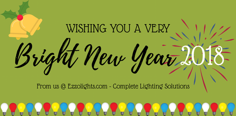 Happy New Year 2018 from ezzolights.com  sc 1 th 158 & EzzoLights by Ezzogenics | Complete Lighting Solutions ... azcodes.com