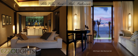 Ambient Lighting project by Ezzolights at Alila Villas Soori, Bali - Indonesia