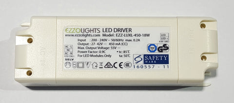 LuxLights downlights external driver