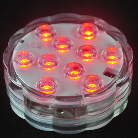 Holiday Lighting SUBMERSIBLE LED TEA LIGHT WITH REMOTE CONTROL - Ezzolights.com