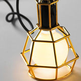 Ceiling Light Fixture ZODYN OVAL IRON CAGE LIGHT FIXTURE - Ezzolights.com