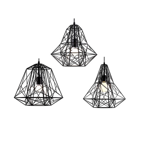 Ceiling Light Fixture ZODYN DIAMOND IRON CAGE PENDANT LIGHT - Ezzolights.com
