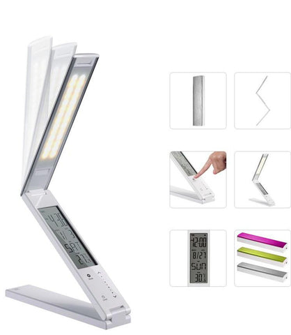 LED table lamp FOLDABLE LED TABLE LAMP WITH LCD CALENDAR FH24hz-808 - Ezzolights.com