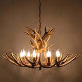 Zodyn Wooden Light Fixture INTERTWINE ANTLER ZODYN WOODEN AMERICAN RUSTIC STYLE PENDANT LIGHT - Ezzolights.com