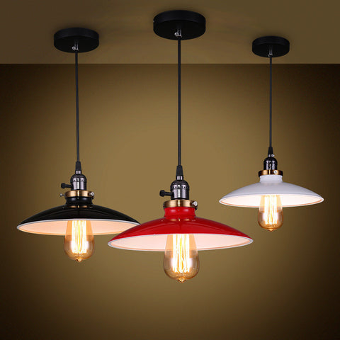 Ceiling Light Fixture ZODYN IRON PENDANT LIGHT GLOSS WIDE BOWL - Ezzolights.com