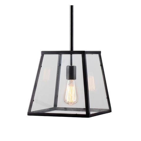 Ceiling Light Fixture ZODYN GLASS IRON SINGLE WINDOW PENDANT LIGHT - Ezzolights.com