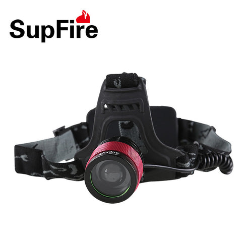 LED Torchlight SUPFIRE HL01 PROFESSIONAL HEAD LAMP T800 - Ezzolights.com