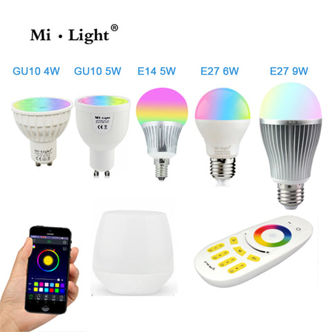 LED Bulbs & Tubes MI-LIGHT LED BULBS AND 4G 4-ZONE REMOTE CONTROL - Ezzolights.com