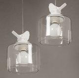 Zodyn Glass Light Fixture MODERN NORDIC DESIGN ZODYN BIRD GLASS PENDANT LIGHT - Ezzolights.com