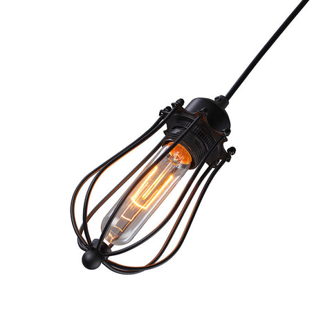 Ceiling Light Fixture INDUSTRIAL IRON CAGE ZODYN GRAPEFRUIT PENDANT LIGHT - Ezzolights.com
