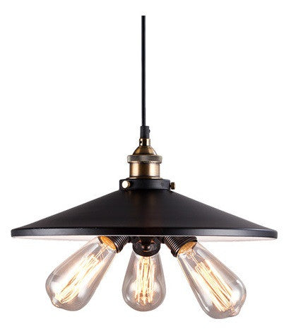 Ceiling Light Fixture ZODYN IRON 3 HEAD UMBRELLA PENDANT LIGHT - Ezzolights.com