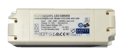 Power Supply 8W/ 12W/ 18W LUXLIGHTS DRIVER WITH SAFETY MARK - Ezzolights.com