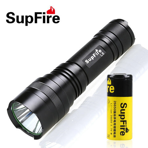 LED Torchlight SUPFIRE L6-R5 MINI TACTICAL USB TORCH 450 - Ezzolights.com