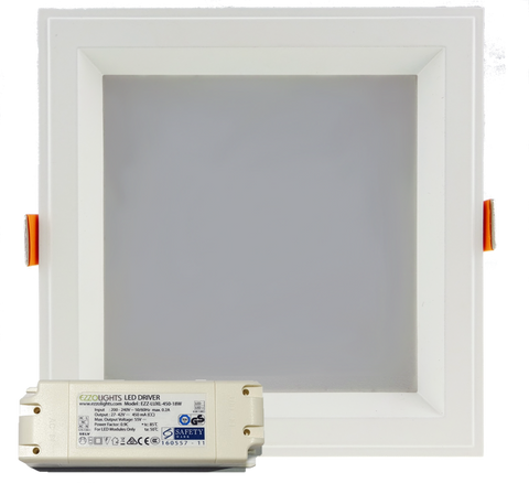 LED Downlight ATLAS SQUARE RECESSED LED DOWNLIGHT - Ezzolights.com