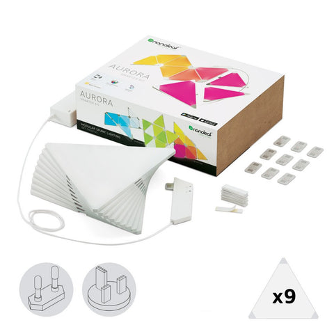 Smart Decorative Lighting NANOLEAF AURORA LIGHTING SMARTER STARTER KIT (9 PANELS) - Ezzolights.com