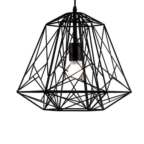 Ceiling Light Fixture ZODYN PYRAMID CAGE IRON FIXTURE - Ezzolights.com