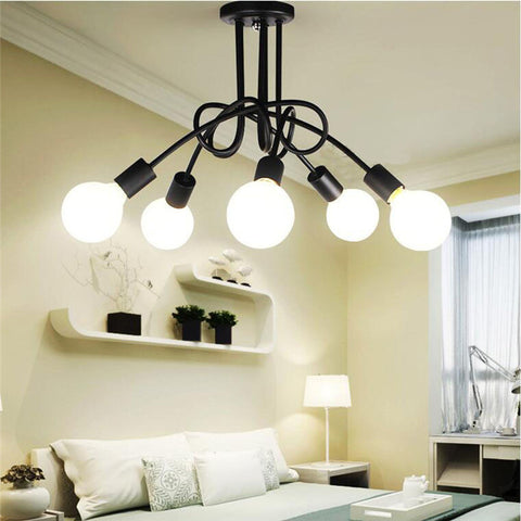 Decorative Ceiling Light ZODYN IRON ARTISTIC CEILING LIGHT 5 HEADS - Ezzolights.com