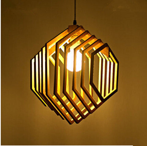 Zodyn Wooden Light Fixture MINIMALIST DECORATIVE ZODYN WOODEN PENDANT LIGHTS - Ezzolights.com