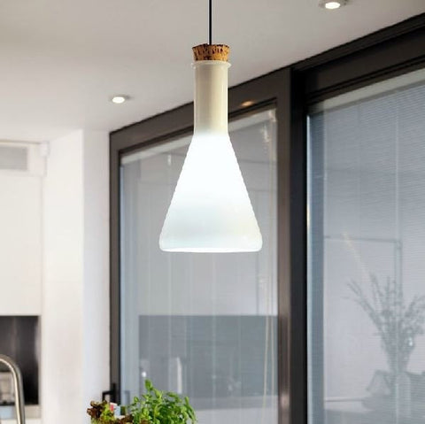 Ceiling Light Fixture ZODYN MILK GLASS MAGIC BOTTLE PENDANT LIGHT - Ezzolights.com