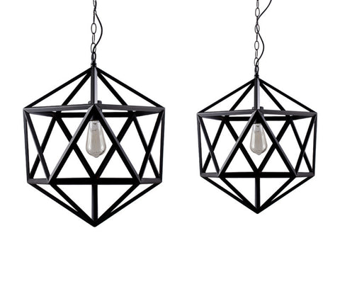Ceiling Light Fixture ZODYN IRON PRISMATIC BALL PENDANT LIGHT - Ezzolights.com