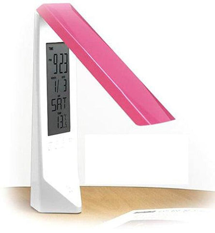 LED table lamp TOUCH DIMMER FOLDABLE RECHARGEABLE LED TABLE LAMP WITH LCD CALENDAR - Ezzolights.com