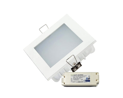 LED Downlight FLUSH SQUARE RECESSED LED DOWNLIGHT - Ezzolights.com