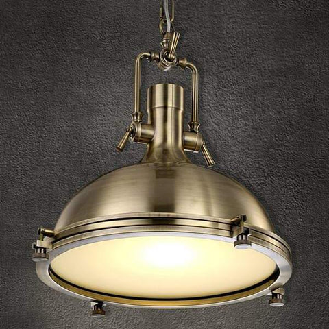Ceiling Light Fixture INDUSTRIAL RUSTIC CHROME ZODYN BOWL PENDANT LIGHT - Ezzolights.com