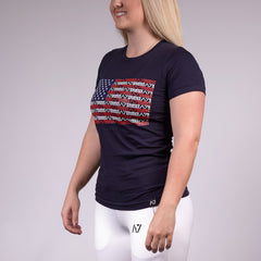 Americana Navy Bar Grip Women's Shirt