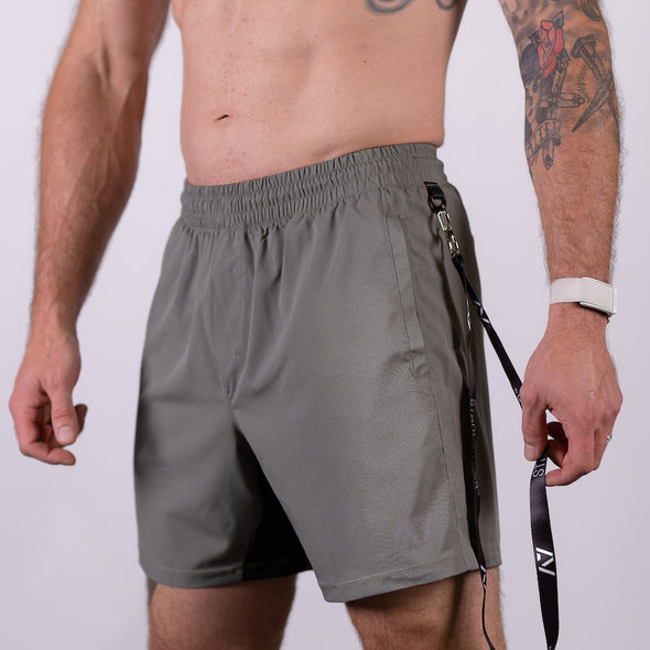 Men's Center-stretch Squat Shorts - Stone