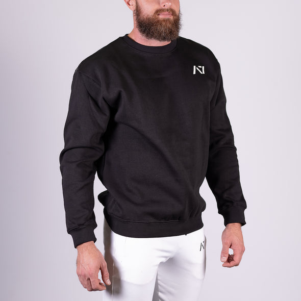 Classic Black Bar Grip Crew Neck