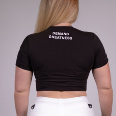 A7 Women's Crop - Black