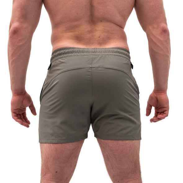 KWD Men's Squat Shorts - Stone