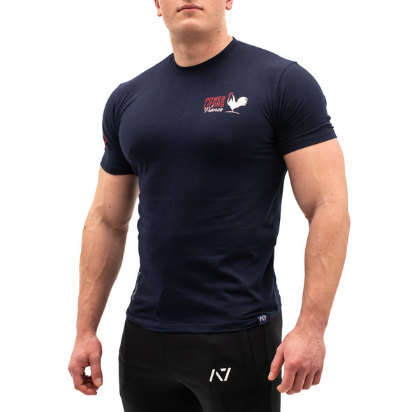 Powerlifting France Navy Bar Grip Men's Shirt