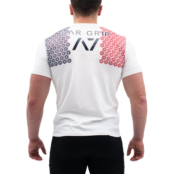 Powerlifting France White Bar Grip Men's Shirt