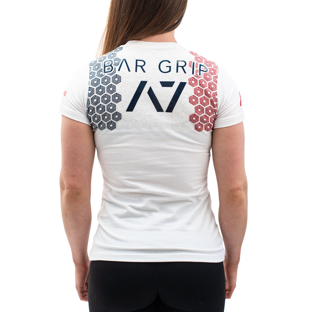 Powerlifting France White Bar Grip Women's Shirt