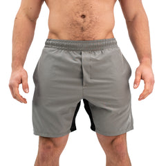 Men's Center-stretch Squat Shorts - Grayscale
