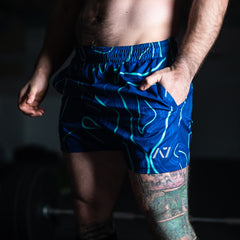 KWD Men's Squat Shorts - Cosmic Trip